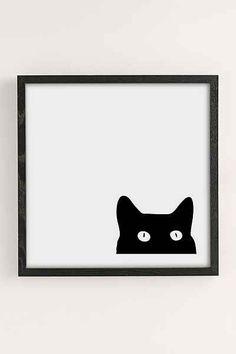 Shannon Lee Black Cat Art Print