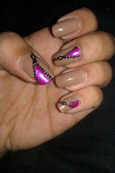 Zip nail art