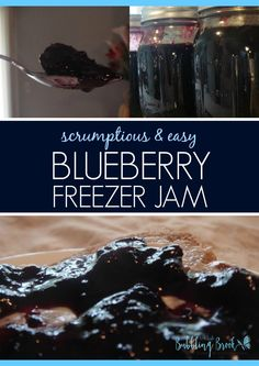 BLUEBERRY FREEZER JAM - This is an easy, delicious blueberry jam recipe, without added pectin!