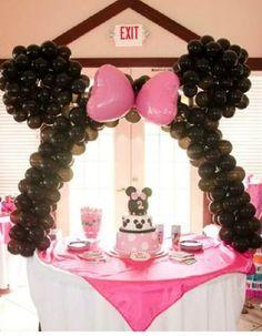 ¡No te pierdas esta decoración para #fiesta de Minnie Mouse!