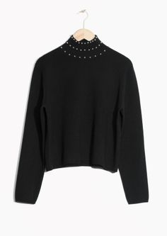 & Other Stories | Studded Turtleneck Sweater