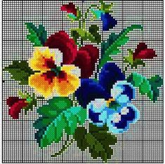 """RIOLIS cross stitch Embroidery Kit """"The Petunias and Primroses"""" Russia (Petunia and Primrose) embroidery maker """"Loris"""" 製shi Embroidery Kit Vintage Cross Stitches, Counted Cross Stitch Patterns, Cross Stitch Charts, Cross Stitch Designs, Cross Stitch Embroidery, Embroidery Patterns, Hand Embroidery, Cross Stitch Rose, Cross Stitch Flowers"""