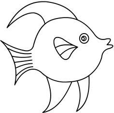 Un poisson d'avril Fish Coloring Page, Colouring Pages, Baby Applique, Applique Quilts, Modern Embroidery, Diy Embroidery, Nursery Drawings, Fish Activities, Quiet Book Templates
