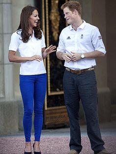 Kate Middleton wears patriotic skinny jeans at the London Olympics