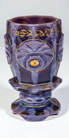 Agatinopal glass - Buquoy'sche Hütten, Georgethal oder Silberberg, um 1835