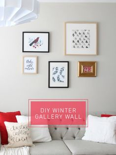 Winter Gallery Wall - Hello Yellow Blog