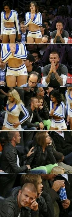Beckham Even Posh gets jealous haha this made me laugh.Even Posh gets jealous haha this made me laugh. Haha Funny, Funny Cute, Funny Jokes, Hilarious, Funny Stuff, Funniest Jokes, Humor Grafico, Have A Laugh, David Beckham