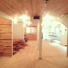 New Design & Build - retail store in NW 23rd - 100 yr old reclaimed Barn Fir flooring. #backfortywoods #architecture #willpdx