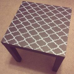 Morrocan pattern i painted on a table! Made my own stencil! This project took several hours!