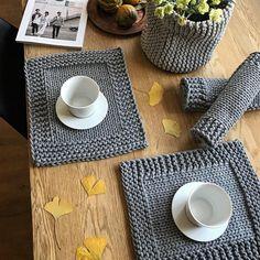 Czas na południową herbatę #teatime #czasnaherbate #podkładki #recznierobione #hygge #scandinaviandesign #scandinavianstyle #grey #homsweethome #homdecor