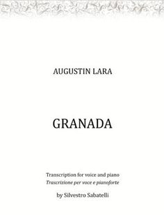 Augustin Lara - voice and piano sheet music #sheetmusic #piano #voice Katherine Jenkins, Lead Sheet, Transcription, Original Music, Piano Sheet Music, Digital Sheet Music, Granada, My Music, The Voice