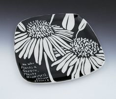 Hey, I found this really awesome Etsy listing at https://www.etsy.com/listing/156254685/sandwich-plate-with-carved-sgraffito