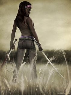Michonne - The Walking Dead Walking Dead Zombies, Fear The Walking Dead, I Movie, Movie Stars, Walking Dead Tv Series, Dead Inside, Stuff And Thangs, Best Series, Dead Man