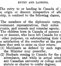 Source: Newspaper, c. 1923. The Chinese immigration act was an amendment to the Chinese head tax of 1885. The new act made it so no Chinese person could enter Canada unless they were a: merchant, student, diplomat, or granted special circumstance by the government. All Chinese already living in Canada had to register with the government or risk being deported. In 1947 the act was repealed. Chinese were also given the right to vote. Right To Vote, Newspaper, 1920s, Chinese, Canada, Student, History, College Students, Historia