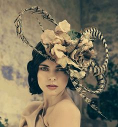 Metallic rose cocktail hat, Jane Taylor