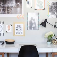 """This fun DIY idea from Scotch Brand is worth a try: """"A Fresh Take On Frames…Brighten Up Your Home Office"""" #ScotchStyle"""