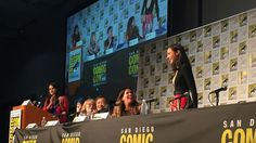 As Wonder Woman turns 75, creators of comic and movie talk about her legacy    'Now is the time,' says Gal Gadot At San Diego Comic-Con's Wonder Woman 75 panel, director Patty Jenkins and actress Gal Gadot gave five lucky Wonder Woman cosplayers prints of the newly release   http://www.polygon.com/comics/2016/7/24/12264270/wonder-woman-75-panel-sdcc