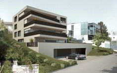 Visualisierungen Architektur: STOMEO Architektur Visualisierung - Zürich 3d Modelle, Building Exterior, Luxury Homes, Multi Story Building, Mansions, House Styles, Buildings, Home Decor, Terrace
