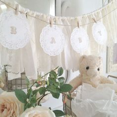 DIY Baby Shower Doily Banner Kit Baby by DenaDanielleDesigns