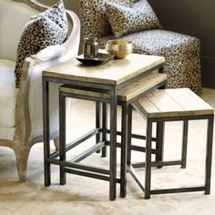Durham Nesting Tables   Ballard Designs-split tables up? Put 2 by sofa, 1 by reading chair?