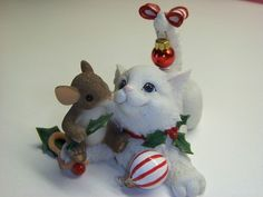 """Friends Make The Holiday Purr-fect. This figurine was introduced in 2005 and it measures 3"""" tall."""