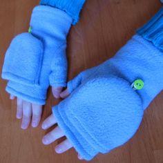 Fleece Gloves Pattern - Convertible Mittens / Gloves - DIY Sewing Pattern…