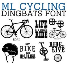 Silhouette Design Store - View Design #237895: ml cycling dingbats