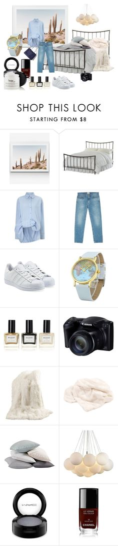 """Home"" by heather-casson ❤ liked on Polyvore featuring moda, Hillsdale Furniture, Victoria, Victoria Beckham, Acne Studios, adidas Originals, Balmain, Best Home Fashion, Coyuchi, MAC Cosmetics y Chanel"