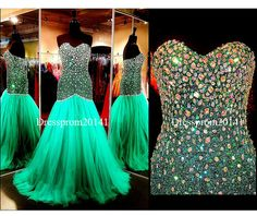 Green evening dressesBridal gownsParty by DressProm20141 on Etsy, $170.00