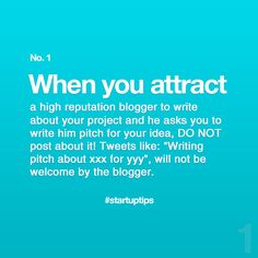 Start-Up Tips no. 1