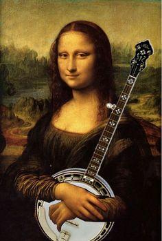 "The ""funny side"" of Banjos Davinci's lost ""Mona Banjo"""