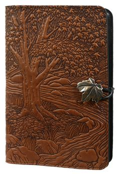 Leather Journal Cover | Diary | Creekbed Maple | Oberon Design