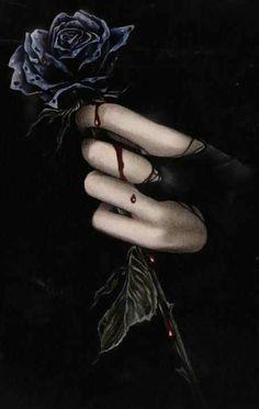 Victoria Frances Gothic Rose ~ ♥ℒℴνℯ♥ It! Dark Beauty, Gothic Beauty, Vampires, Dark Fantasy, Fantasy Art, Rose Blood, Imagenes Dark, Fractal, France Art