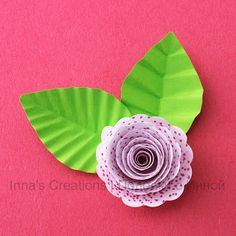 Inna's Creations: How to make paper leaves with veins