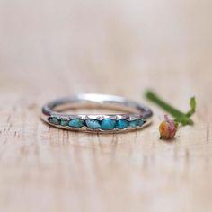 Turquoise Birthstone Ring // Hidden Gems - Gardens of the Sun Jewelry