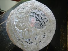 DIY Doily Lantern - Rustic Wedding Chic