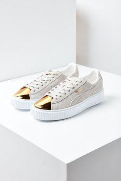 da03792f1297 Puma Suede Platform Gold Toe Sneaker Splendid Shoes