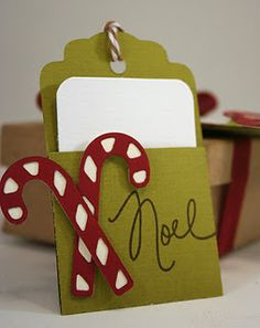 Gift Card holder and other craft ideas with punches & stamps Christmas Gift Card Holders, Xmas Cards, Holiday Cards, Gift Cards Money, Handmade Gift Tags, Christmas Tags Handmade, Christmas Paper Crafts, Card Tags, How To Introduce Yourself