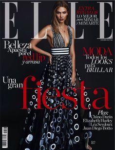 Karlie Kloss Models Carolina Herrera Fashion for ELLE Spain