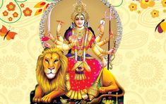 wallpapers of Lord maa durga wallpaper and images for mobile and desktop device in full resolution hd. if you like this wallpaers images of maa durga Nav Durga Image, Maa Image, Durga Picture, Maa Durga Photo, Durga Kavach, Durga Goddess, Krishna Hindu, Ganesha, Nataraja