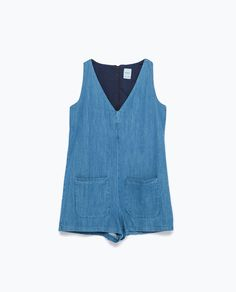 Image 7 of DENIM JUMPSUIT from Zara