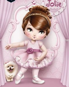 Cantinho Encantado: Jolie Tilibra Little Girl Ballerina, Ballerina Party, Little Doll, Little Girls, Adorable Petite Fille, Cute Clay, Le Jolie, Cool Sketches, Cool Paintings