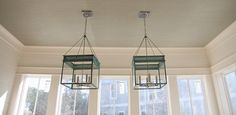 """""""The grassclothed ceiling in the Dining Room worked out pretty well too. In love with Urban Electric's Chisholm Hall pendants."""" - Erika @ Urban Grace"""
