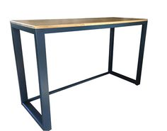 Solid oak and steel desk