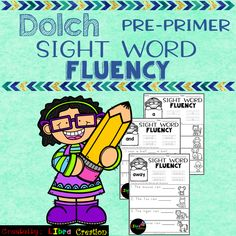 Dolch Sight Word Fluency Pre-Primer This product includes: * 40 pages of Sight Word Fluency. In this product, your students need to trace the word, fill in the blanks and color the pictures. 1st Grade Activities, First Grade Worksheets, Sight Word Activities, Kindergarten Worksheets, Classroom Activities, 1st Grade Writing, Teaching First Grade, Kindergarten Writing, Pre Primer Sight Words