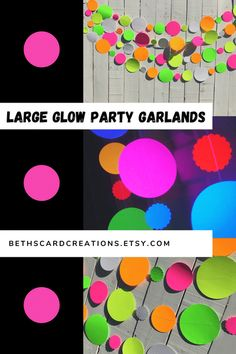 These large glow party garlands fluoresce under black light and are the perfect backdrop to your neon, 80s, or sweet 16 glow party. Birthday Party For Teens, Sweet 16 Birthday, Teen Birthday, 16th Birthday, Birthday Ideas, Sweet 16 Invitations, Wedding Invitation Cards, Party Invitations, Wedding Stationery