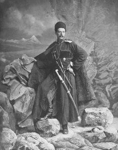 An Ottoman Circassian man, Istanbul, 1887. Bir Osmanlı Çerkesi, İstanbul, 1887.