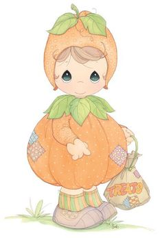 pumpkin precious moments jack-o-lantern clipart Precious Moments Quotes, Precious Moments Coloring Pages, Precious Moments Figurines, Moldes Halloween, Halloween Clipart, Cute Images, Cute Pictures, Smile Images, Comic Pictures