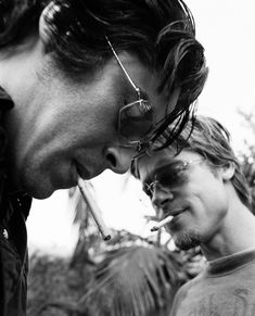 Black and White Photography Portrait of Benicio del Toro and Brad Pitt