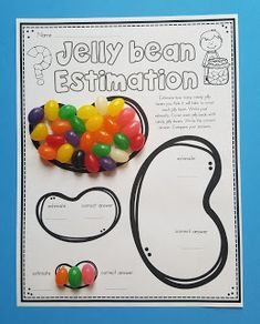 Do your kids love to use candy during math as much as mine do? Check out my 10 Jelly Bean math activities that are perfect for Spring and. Preschool Math, Math Classroom, Kindergarten Math, Teaching Math, Teaching Reading, Math For Kids, Fun Math, Math Games, Math Math